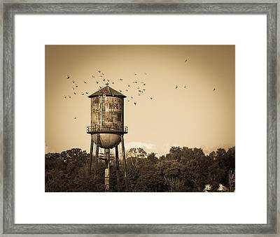 Loudon Water Tower Framed Print by Melinda Fawver