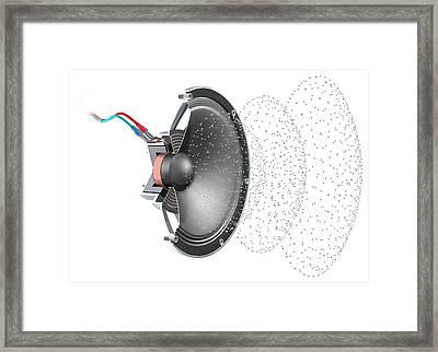 Loudspeaker Soundwave Framed Print