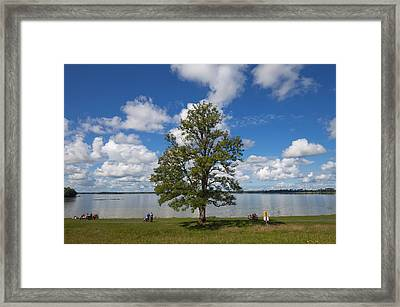 Lough Ennel From The Gardens Framed Print by Panoramic Images