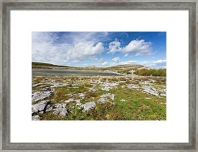 Lough Geallain And Mullagh More Framed Print by Bob Gibbons