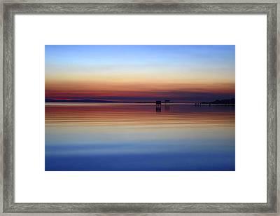 Lough Neagh Samhradh Framed Print by Barry Kerr