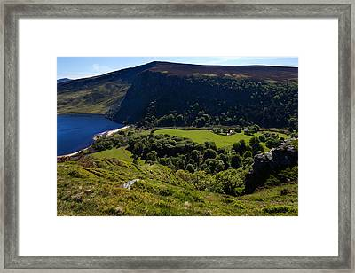 Lough Tay Below Luggala Mountain Framed Print by Panoramic Images