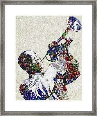 Louie Armstrong 2 Framed Print by Jack Zulli