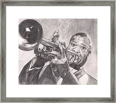 Louie Armstrong Framed Print by Beverly Marshall