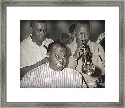 Louie Armstrong Haircut 1961 Framed Print