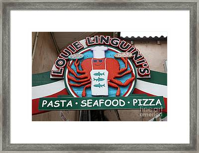 Louie Linguinis On Monterey Cannery Row California 5d24772 Framed Print by Wingsdomain Art and Photography