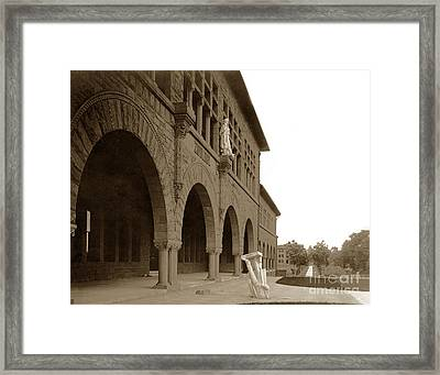Louis Agassiz In The Concrete Most Famous Image Associated With Stanford University 1906 Earthquake Framed Print by California Views Mr Pat Hathaway Archives