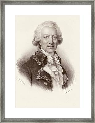 Louis-antoine De Bougainville Framed Print by Emmet Collection Of Manuscripts/new York Public Library