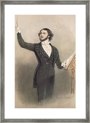 Louis Antoine Jullien Framed Print by Alfred-Edward Chalon