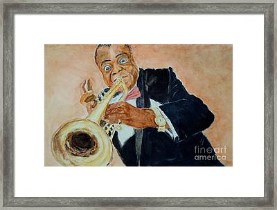 Louis Armstrong 1 Framed Print by Katie Spicuzza