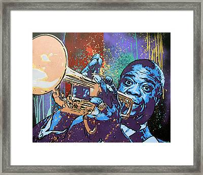 Louis Armstrong Framed Print by Bobby Zeik