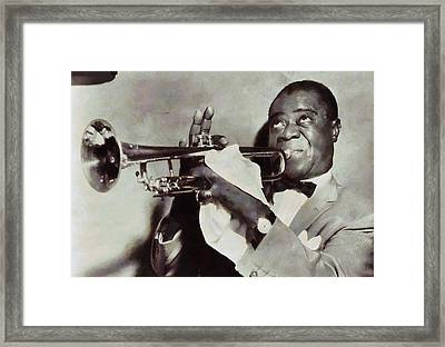 Louis Armstrong Framed Print by Dan Sproul