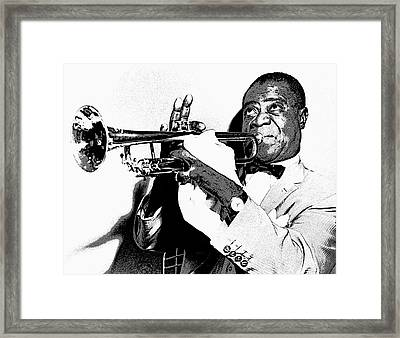 Louis Armstrong Framed Print by Daniel Hagerman