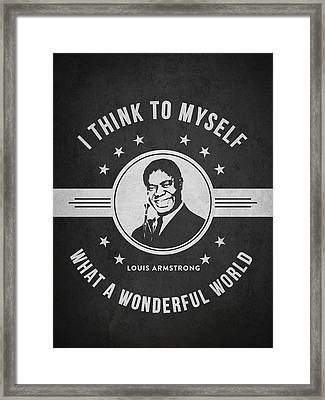 Louis Armstrong - Dark Framed Print by Aged Pixel