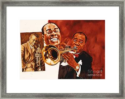 Louis Armstrong Framed Print by Dick Bobnick