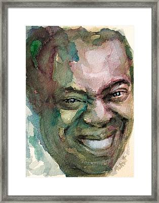 Framed Print featuring the painting Louis Armstrong by Laur Iduc