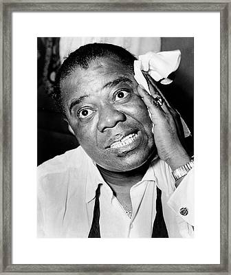 Louis Armstrong Framed Print by Mountain Dreams