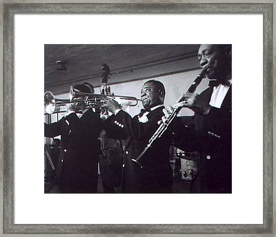 Louis Armstrong Playing With The Band Framed Print by Retro Images Archive