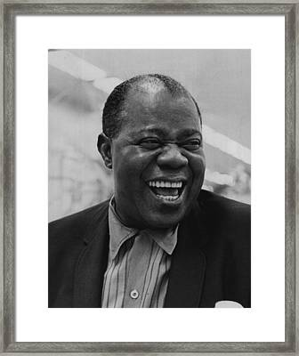 Louis Armstrong Smiles Broadly Framed Print by Retro Images Archive