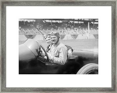 Louis Chevrolet, Us Race Car Driver Framed Print
