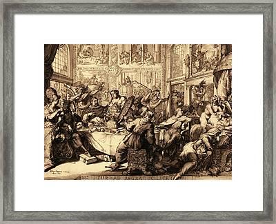Louis Dor Au Soleil, En Sanguine Engraving 1705 Framed Print by Litz Collection