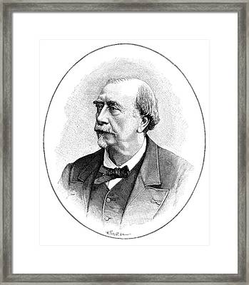 Louis Figuier Framed Print by Science Photo Library
