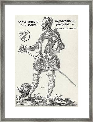 Louis I De Bourbon 1st Prince De Conde Framed Print by Mary Evans Picture Library
