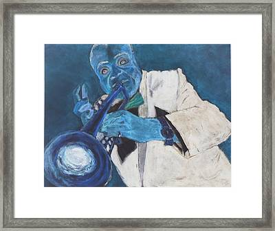 Louis In Blue Framed Print by Katie Spicuzza