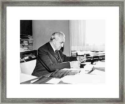 Louis Neel Framed Print by Emilio Segre Visual Archives/american Institute Of Physics