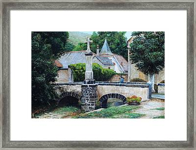 Louis Ocres, France, 1999 Oil On Canvas Framed Print by Trevor Neal
