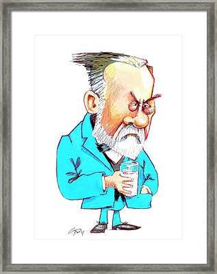 Louis Pasteur Framed Print by Gary Brown