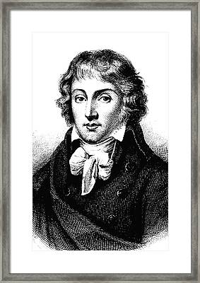 Louis Saint-just Framed Print by Collection Abecasis