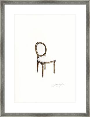 Louis Style Chair Framed Print by Jazmin Angeles