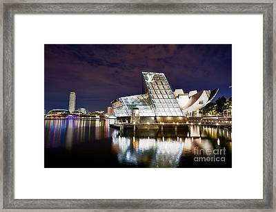 Louis Vuitton Island Maison In Singapore Marina Bay Framed Print by Fototrav Print
