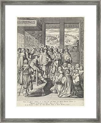 Louis Xiii Receives A Delegation Of Merchants From Paris Framed Print by Quint Lox