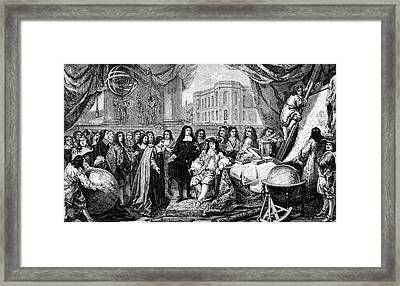 Louis Xiv At Opening Of Paris Observatory Framed Print