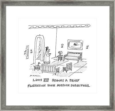 Louis Xiv Begins A Brief Flirtation With Mission Framed Print