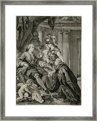 Louis Xv             Accepts Framed Print by Mary Evans Picture Library