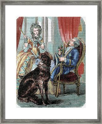 Louis Xv (1710-1774 Framed Print by Prisma Archivo