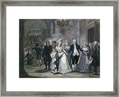 Louis Xvi 1754-93 Bidding Farewell To His Family, 20th January 1793, Engraved By Reinier Vinkeles Framed Print by French School