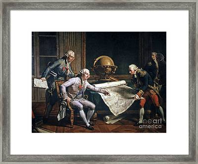 Louis Xvi And La Perouse Framed Print by CCI Archives