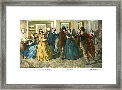 Louisa May Alcottand Her Family Framed Print