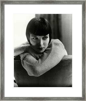 Louise Brooks On A Chair Framed Print