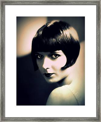 Louise Brooks Portrait Framed Print by Rosie Mills