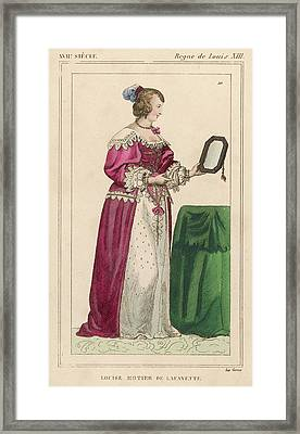 Louise Mottier De La Fayette  French Framed Print by Mary Evans Picture Library