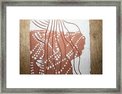 Louise - Tile Framed Print by Gloria Ssali