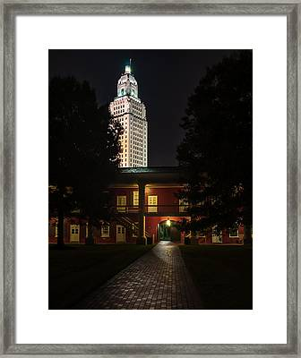 Louisiana State Capitol And Pentagon Barracks Framed Print