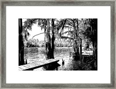 Louisiana Camp Landing Framed Print