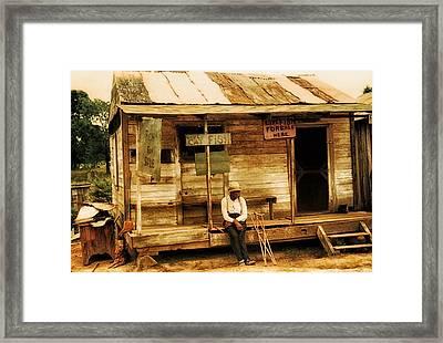 Louisiana Fish Shop In 1940 Framed Print