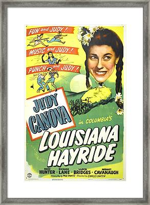 Louisiana Hayride, Us Poster, Judy Framed Print by Everett